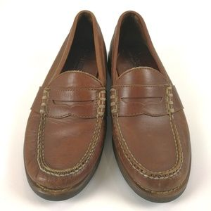 Ralph Lauren Sport Brown Leather Loafers 8D